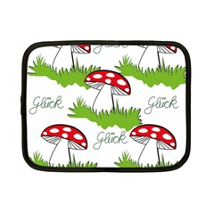 Mushroom Luck Fly Agaric Lucky Guy Netbook Case (small)  by Nexatart
