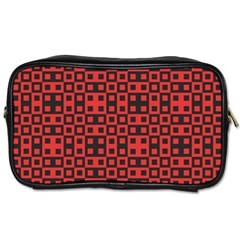 Abstract Background Red Black Toiletries Bags 2 Side by Nexatart