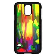 Abstract Vibrant Colour Botany Samsung Galaxy S5 Case (Black) by Nexatart