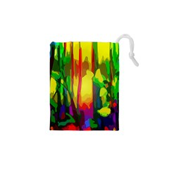 Abstract Vibrant Colour Botany Drawstring Pouches (xs)  by Nexatart