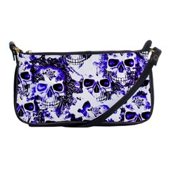 Cloudy Skulls White Blue Shoulder Clutch Bags by MoreColorsinLife