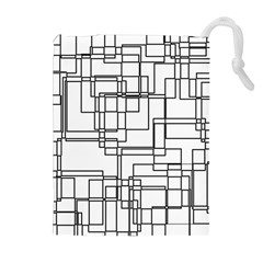 Structure Pattern Network Drawstring Pouches (extra Large) by Nexatart
