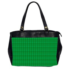 Pattern Green Background Lines Office Handbags (2 Sides)  by Nexatart