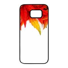 Abstract Autumn Background Bright Samsung Galaxy S7 Edge Black Seamless Case