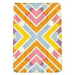 Line Pattern Cross Print Repeat Flap Covers (s)  by Nexatart