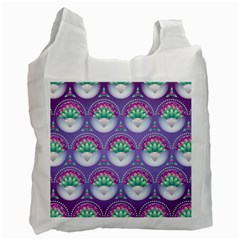 Background Floral Pattern Purple Recycle Bag (one Side) by Nexatart