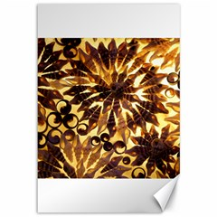 Mussels Lamp Star Pattern Canvas 12  X 18   by Nexatart
