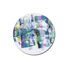 Background Color Circle Pattern Rubber Round Coaster (4 Pack)  by Nexatart