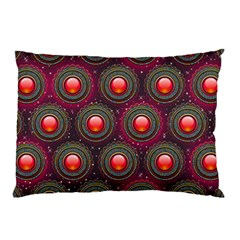 Abstract Circle Gem Pattern Pillow Case (Two Sides)