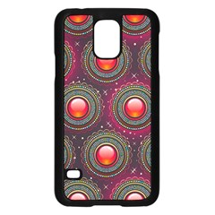 Abstract Circle Gem Pattern Samsung Galaxy S5 Case (black) by Nexatart