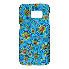Digital Art Circle About Colorful Samsung Galaxy S7 Hardshell Case  by Nexatart