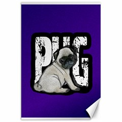 Pug Canvas 20  x 30   by Valentinaart