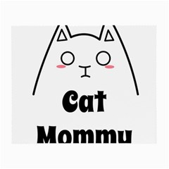 Love My Cat Mommy Small Glasses Cloth (2 Side) by Catifornia