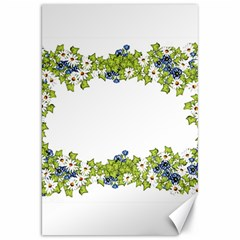 Birthday Card Flowers Daisies Ivy Canvas 20  x 30   by Nexatart