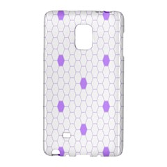 Purple White Hexagon Dots Galaxy Note Edge by Mariart