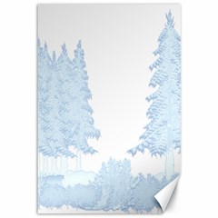 Winter Snow Trees Forest Canvas 12  X 18   by Nexatart