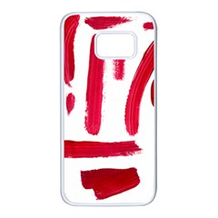 Paint Paint Smear Splotch Texture Samsung Galaxy S7 White Seamless Case