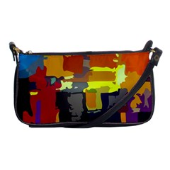 Abstract Vibrant Colour Shoulder Clutch Bags