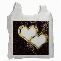 Lover Romantic Couple Apart Recycle Bag (two Side)  by Nexatart