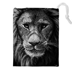 My Lion Sketch Drawstring Pouches (XXL) by 1871930