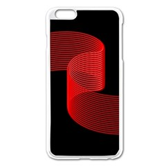 Tape Strip Red Black Amoled Wave Waves Chevron Apple iPhone 6 Plus/6S Plus Enamel White Case by Mariart