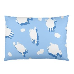 Vector Sheep Clouds Background Pillow Case by Nexatart