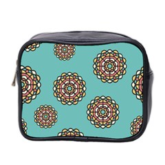 Circle Vector Background Abstract Mini Toiletries Bag 2 Side by Nexatart
