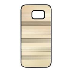 Notenblatt Paper Music Old Yellow Samsung Galaxy S7 Edge Black Seamless Case