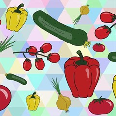 Vegetables Cucumber Tomato Canvas 12  X 12   by Nexatart