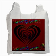 Red Heart Colorful Love Shape Recycle Bag (two Side)  by Nexatart