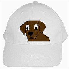 Chocolate Labrador Cartoon White Cap by TailWags