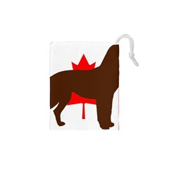 Chocolate Labrador Retriever Silo Canadian Flag Drawstring Pouches (XS)  by TailWags