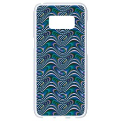 Boomarang Pattern Wave Waves Chevron Green Line Samsung Galaxy S8 White Seamless Case by Mariart