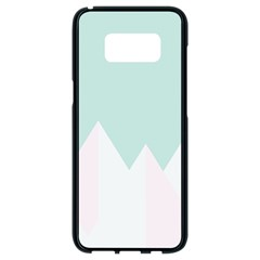 Montain Blue Snow Chevron Wave Pink Samsung Galaxy S8 Black Seamless Case by Mariart