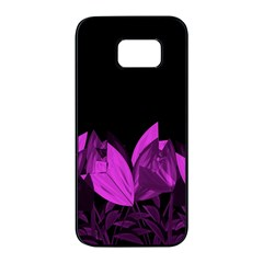 Tulips Samsung Galaxy S7 Edge Black Seamless Case by ValentinaDesign