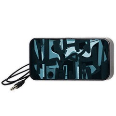 Abstract art Portable Speaker (Black)