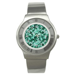 Pattern Factory 23 Teal Stainless Steel Watch