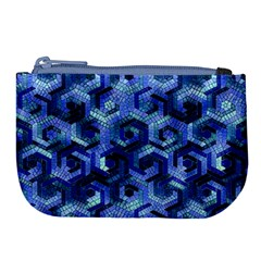 Pattern Factory 23 Blue Large Coin Purse by MoreColorsinLife