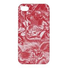 Shimmering Floral Damask Pink Apple iPhone 4/4S Hardshell Case