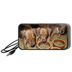 German Pinscher Puppies Portable Speaker (Black)
