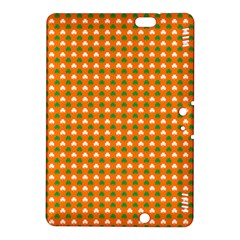 Heart-Shaped Clover Shamrock On Orange St. Patrick s Day Kindle Fire HDX 8.9  Hardshell Case by PodArtist