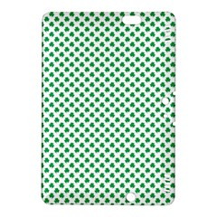 Green Shamrock Clover on White St. Patrick s Day Kindle Fire HDX 8.9  Hardshell Case by PodArtist