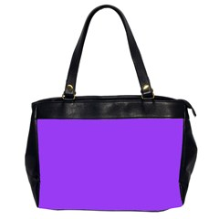 Bright Fluorescent Day glo Purple Neon Office Handbags (2 Sides)  by PodArtist