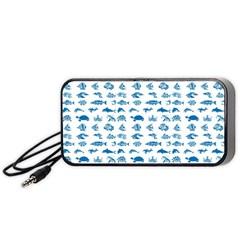 Fish pattern Portable Speaker (Black)