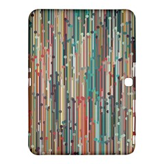 Vertical Behance Line Polka Dot Grey Blue Brown Samsung Galaxy Tab 4 (10.1 ) Hardshell Case  by Mariart