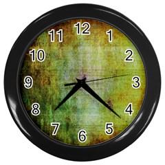 Grunge texture               Wall Clock (Black)