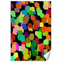 Colorful paint on a black background                 Canvas 20  x 30