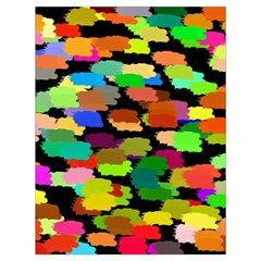 Colorful paint on a black background                 Large Drawstring Bag