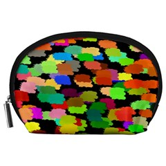 Colorful paint on a black background                 Accessory Pouch