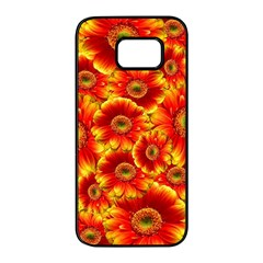 Gerbera Flowers Nature Plant Samsung Galaxy S7 Edge Black Seamless Case